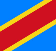 Congolese Flag, African, Democratic Republic of the Congo, CONGO Sticker