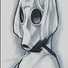 gas mask girl by Derek Mullins