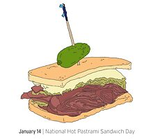 January 14, National Hot Pastrami Sandwich Day by markbot