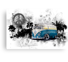 Splitty Grunge (B) Canvas Print