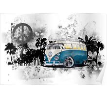 Splitty Grunge (B) Poster