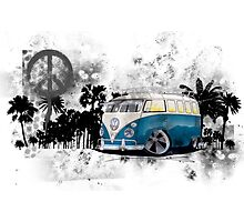 Splitty Grunge (B) Photographic Print