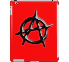 ANARCHY, Revolution, Protest, Disorder, Unrest, Symbol on red in black iPad Case/Skin