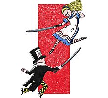 Alice vs. The Mad Hatter Photographic Print