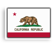 Californian Flag, Flag of California, California Republic, The Bear Flag, State flags of America, USA Canvas Print