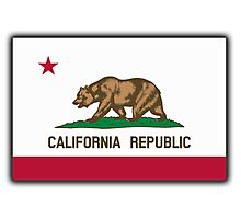 Californian Flag, Flag of California, California Republic, The Bear Flag, State flags of America, USA Photographic Print