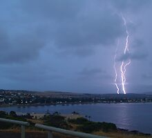 Lightning over Encounter Bay by Matt Harvey