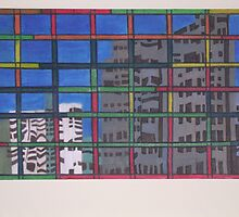 Lego Block Windows by Joan Wild