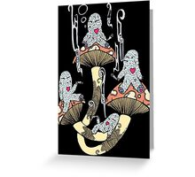 Four Little Monsters Greeting Card