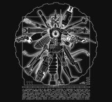 Vitruvian Machine (White) Kids Clothes