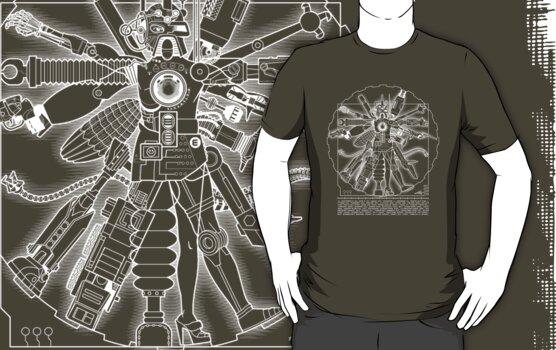 Vitruvian Machine (White) by Captain RibMan