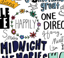 midnight memories collage COLORED Sticker