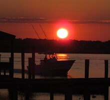 Boating At Sunset by Cynthia48