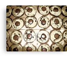 Comic Abstract Reese Cup Cookies Canvas Print