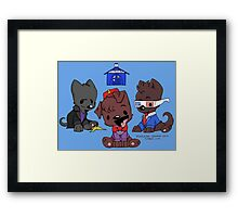 Doctor Pup Framed Print