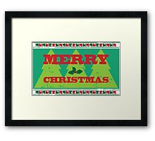 Letterpress Merry Christmas Framed Print