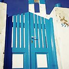 Blue Gate, Santorini by Leigh Penfold