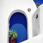 Blue Door, Santorini by Leigh Penfold