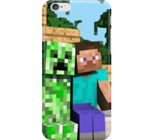 Steve and Creeper - Minecraft iPhone Case/Skin