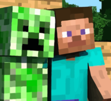 Steve and Creeper - Minecraft Sticker
