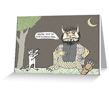 The Big Lebowski + Where the Wild Things Are Greeting Card