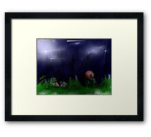 """ONE DARK HOLLOWEEN NIGHT"" Framed Print"