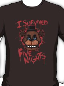 I Survived Five Nights At Freddy's Pizzeria T-Shirt