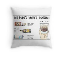 The Dude's White Russian Throw Pillow