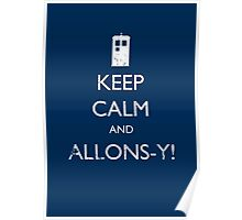 Keep Calm and Allons-y! (Distressed) - Doctor Who Poster