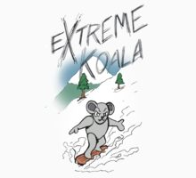 Extreme Koala Snowboarder by Colin Wells