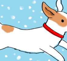 Snow Dog Holiday Sticker