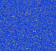 Cell Pattern Blue Crystals by Alec Owen-Evans