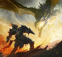 Skyrim (Dragon vs Deadra) by Benzo997