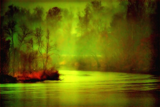Mystic River Morning by Robert Burns Miller