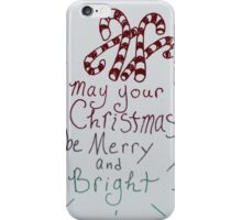 May your christmas be merry and bright iPhone Case/Skin