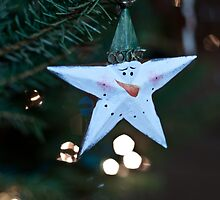 Star Snowman - Holiday Bokeh, Fine Art Photography by Megan Campbell