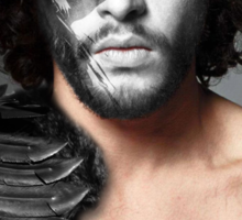 Jon Snow Crow House Stark War Paint Sticker