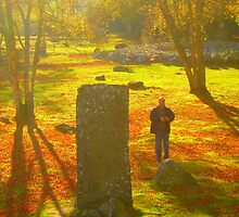 Dream Autumn Day at an Ancient Grave by Hippyman
