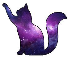 Galaxy Cat Playing by CraftyCreepers