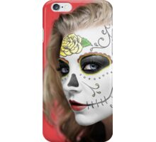 Natalie Dormer Dia de Los Muertos Day of the Dead MakeUp iPhone Case/Skin
