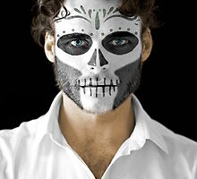 Richard Madden Dia de Los Muertos Day of the Dead MakeUp  by HilaryHeffron