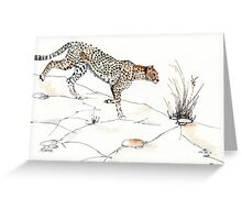 Majestic Cheetah Greeting Card