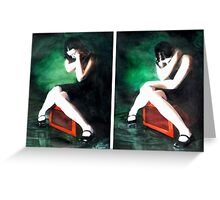 Blame Your Green Eyes; For What They Have Seen. (watercolors) Greeting Card