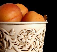 Apricots in Bucket by Martie Venter