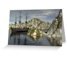 Sailing Through Unknown Territory Greeting Card