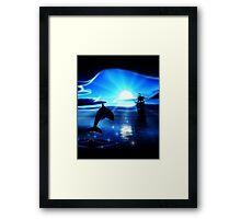 Moonlight Calm Framed Print
