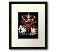 Street Fighter - Chun-li & Ryu Framed Print