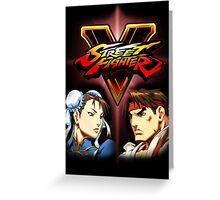 Street Fighter - Chun-li & Ryu Greeting Card