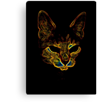 Bad kitty kitty Canvas Print