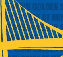 WARRIORS - GOLDEN STATE OF MIND Sticker